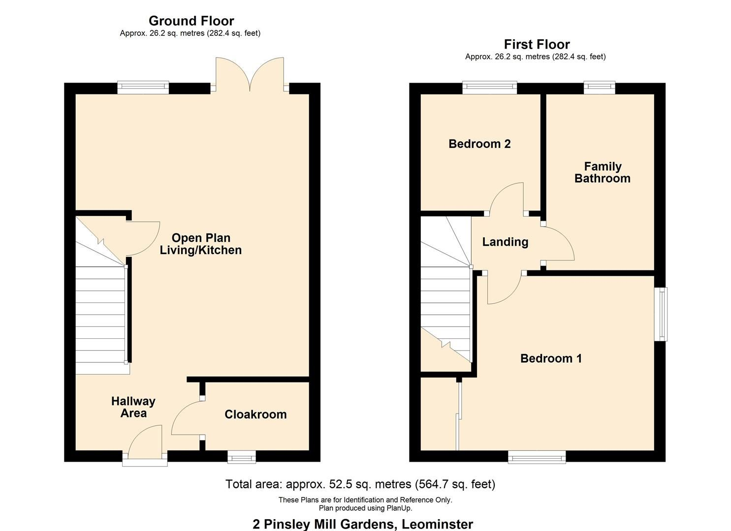 2 bed semi-detached for sale in Leominster - Property Floorplan