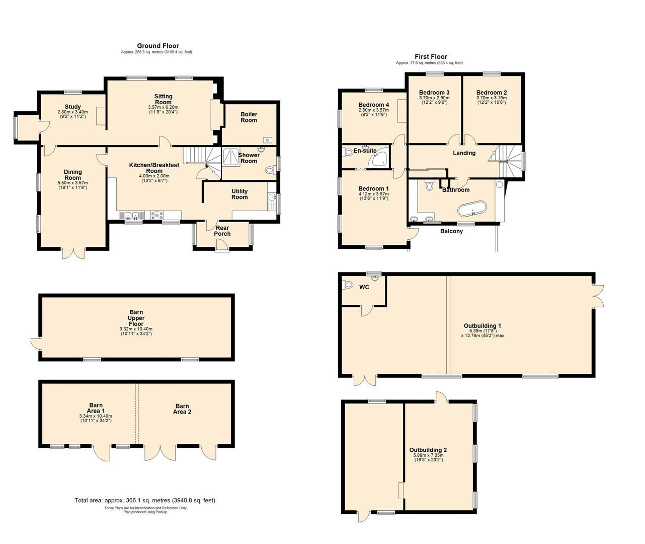 4 bed detached for sale in Ullingswick - Property Floorplan