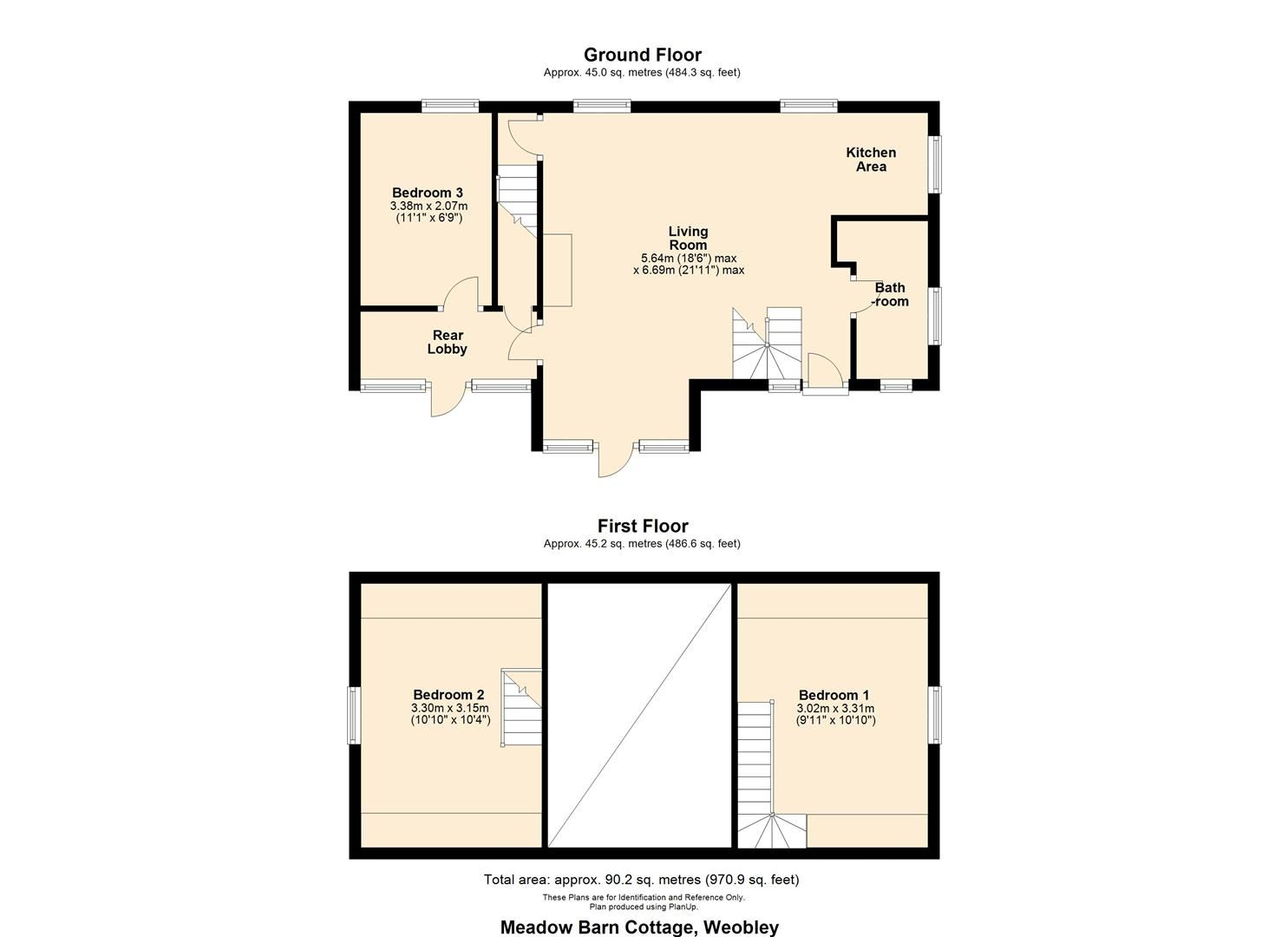 3 bed cottage for sale in Weobley - Property Floorplan