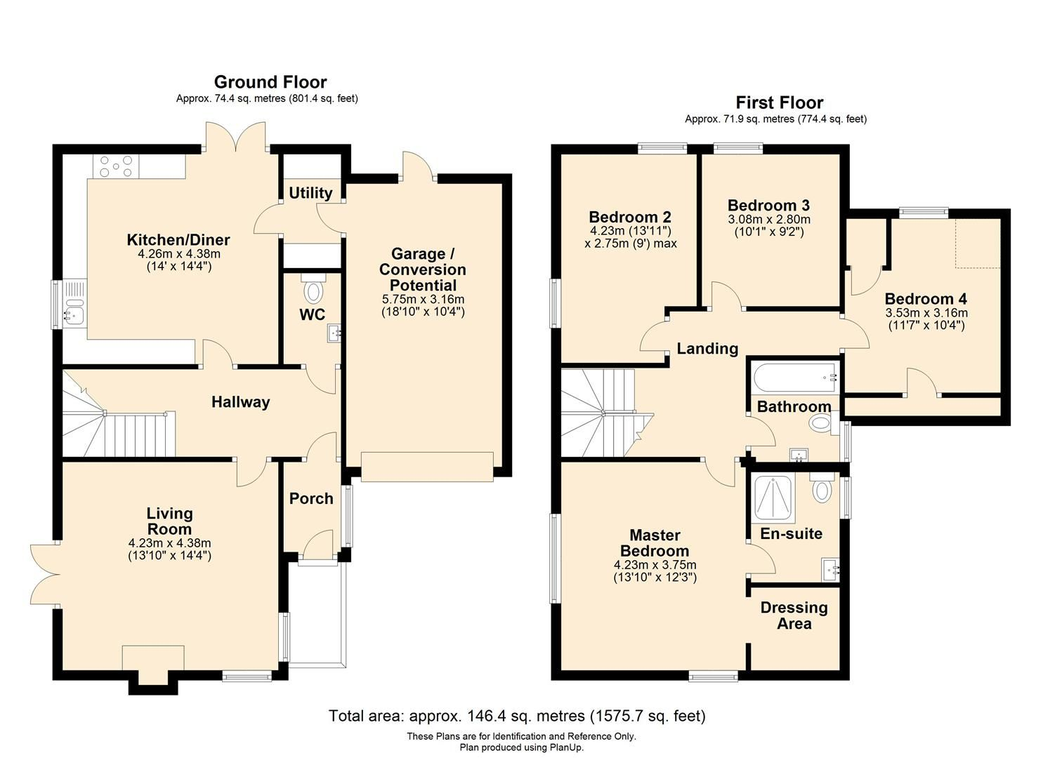 4 bed detached for sale in Kings Acre - Property Floorplan