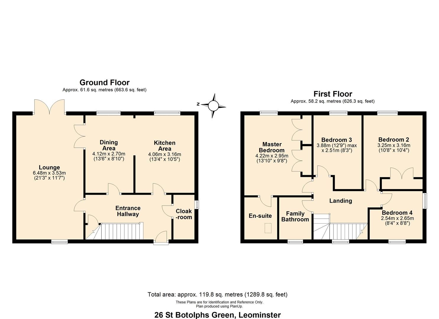 4 bed semi-detached for sale in Leominster - Property Floorplan