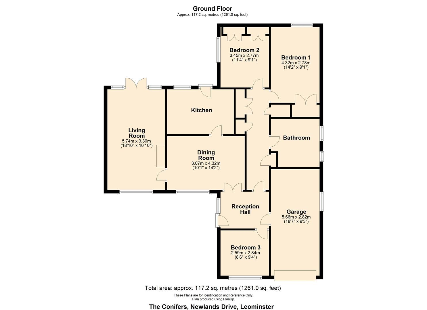 3 bed detached-bungalow for sale in Leominster - Property Floorplan