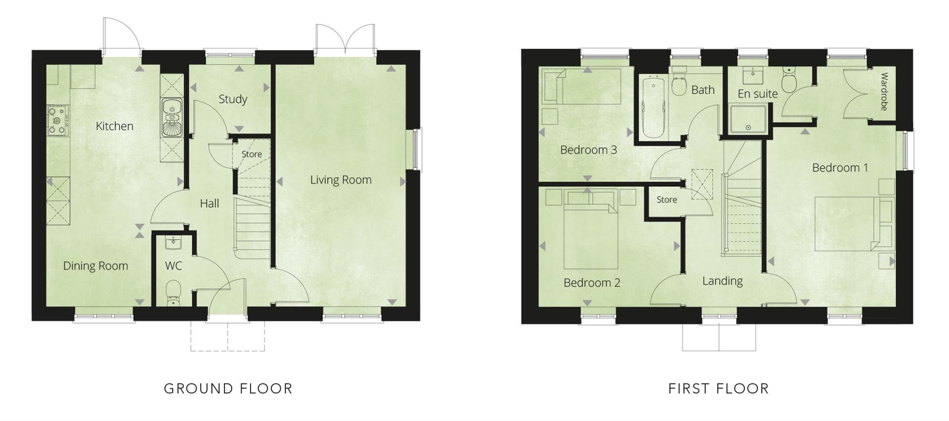 3 bed detached for sale in Kingstone - Property Floorplan
