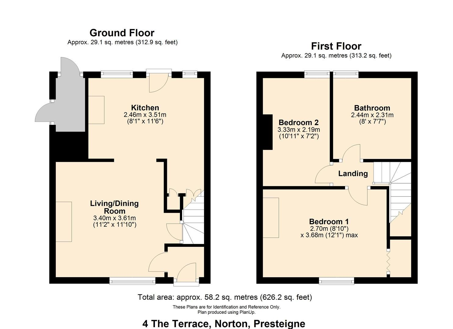 2 bed cottage for sale in Norton - Property Floorplan