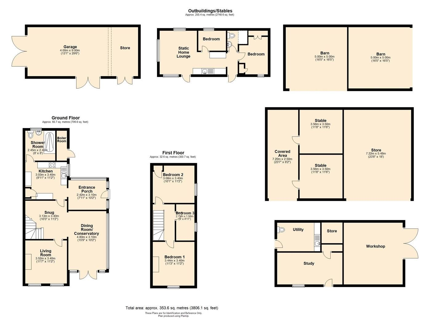 3 bed semi-detached for sale in Sutton St. Nicholas - Property Floorplan