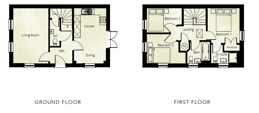 3 bed detached for sale in Kingstone - Property Floorplan