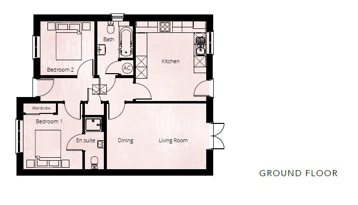 2 bed detached-bungalow for sale in Kingstone - Property Floorplan