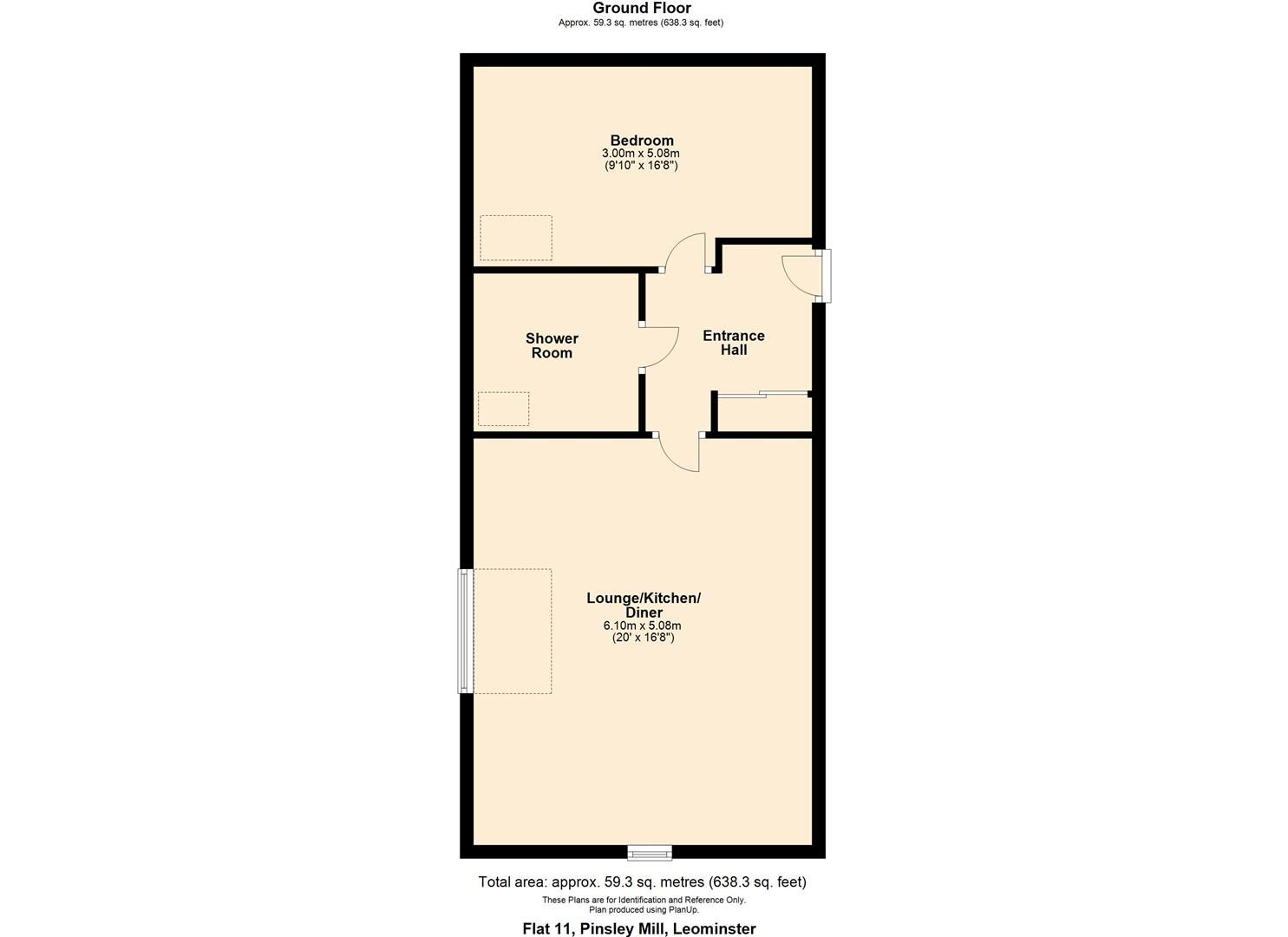 1 bed apartment for sale in Leominster - Property Floorplan