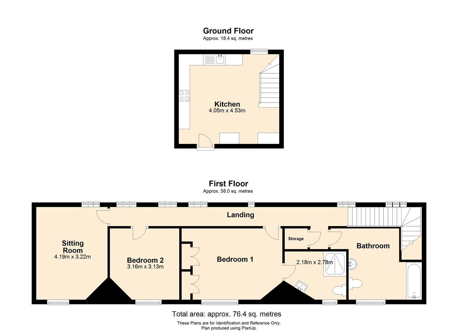 2 bed apartment to rent in Letton - Property Floorplan