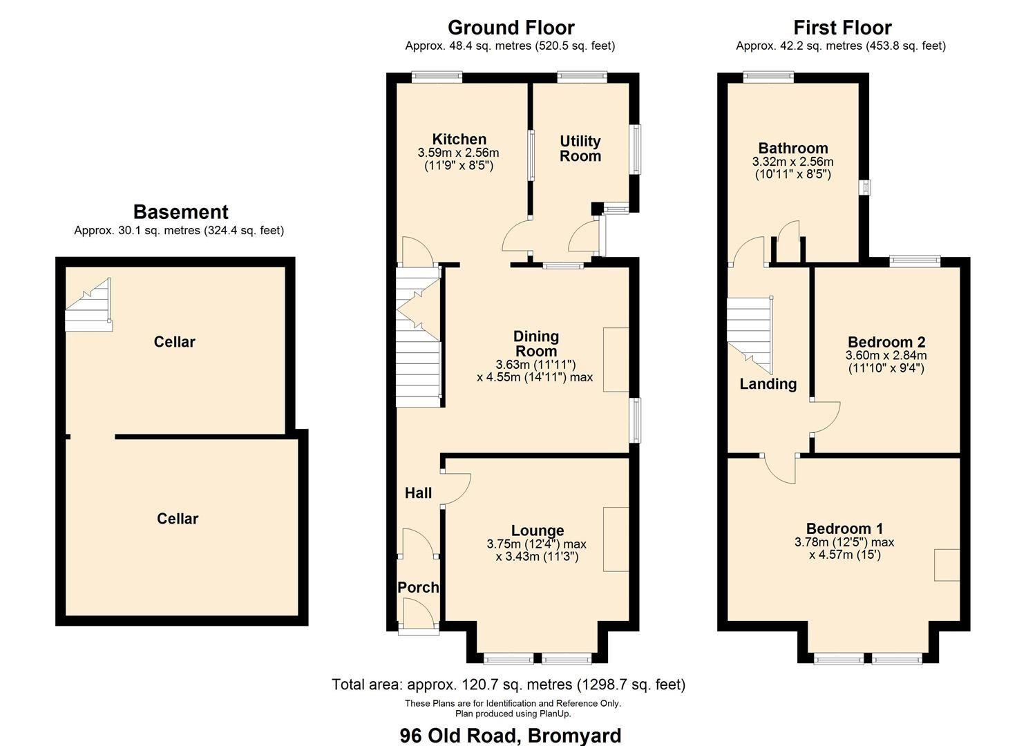 2 bed semi-detached for sale in Bromyard - Property Floorplan
