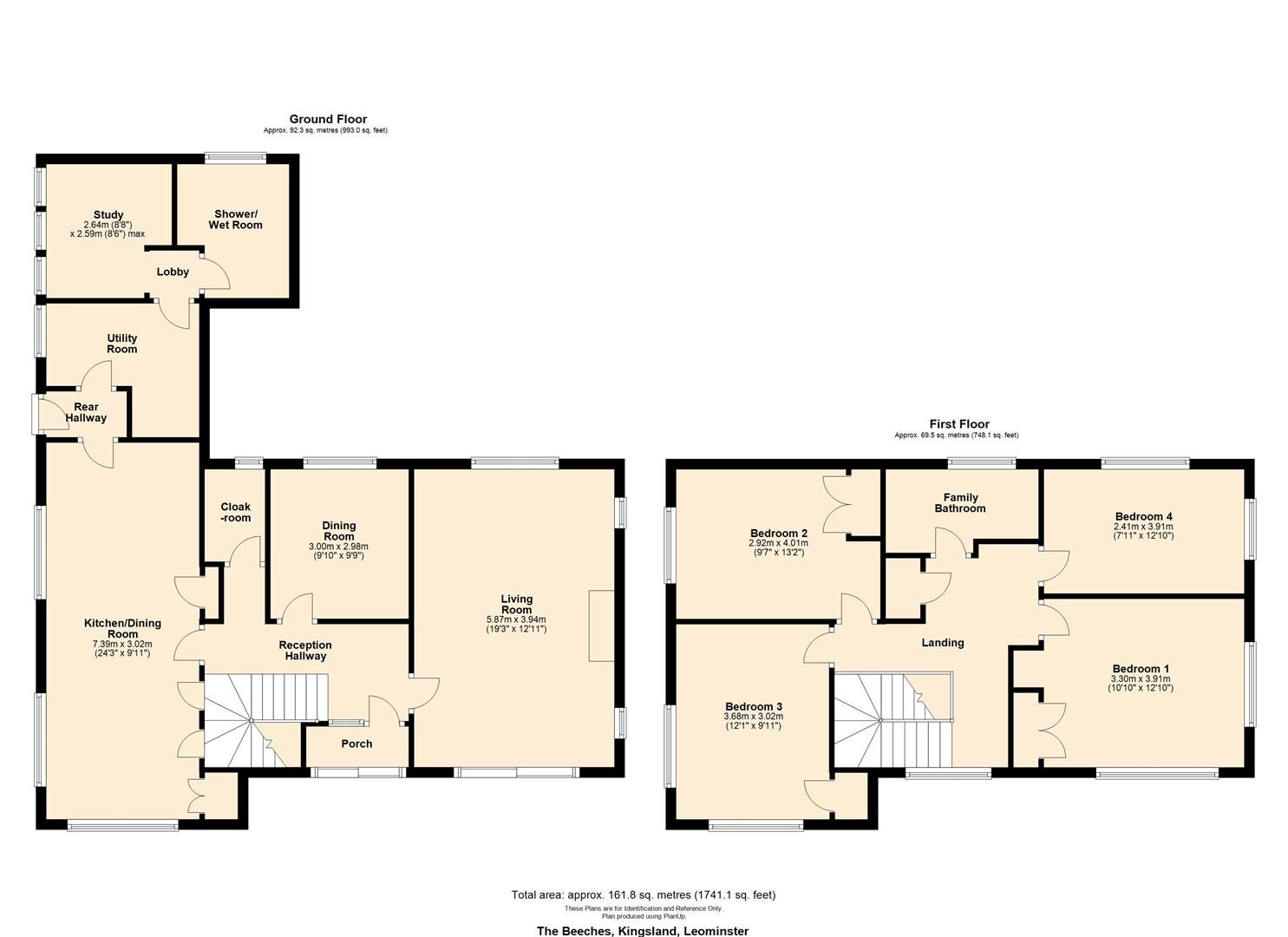 4 bed detached to rent in Kingsland - Property Floorplan