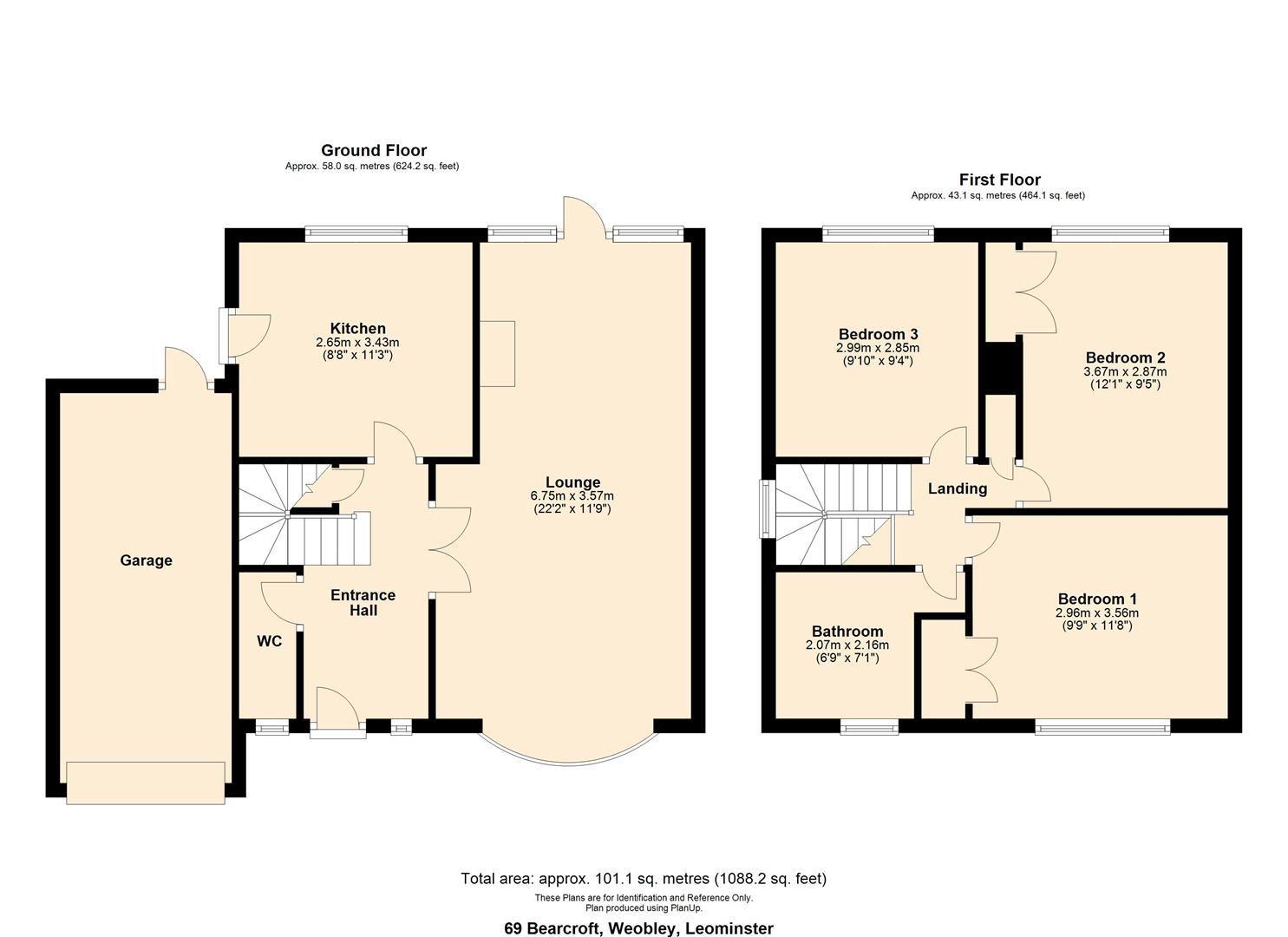 3 bed link detached house for sale in Weobley - Property Floorplan