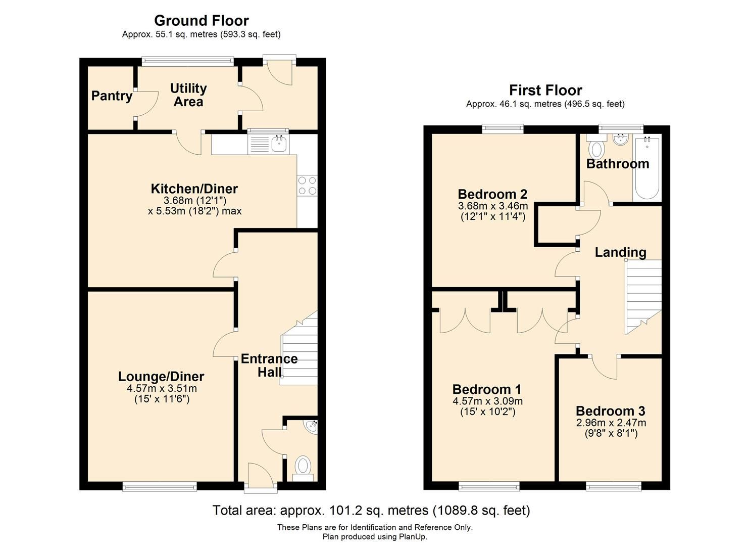 3 bed terraced for sale in Hereford - Property Floorplan