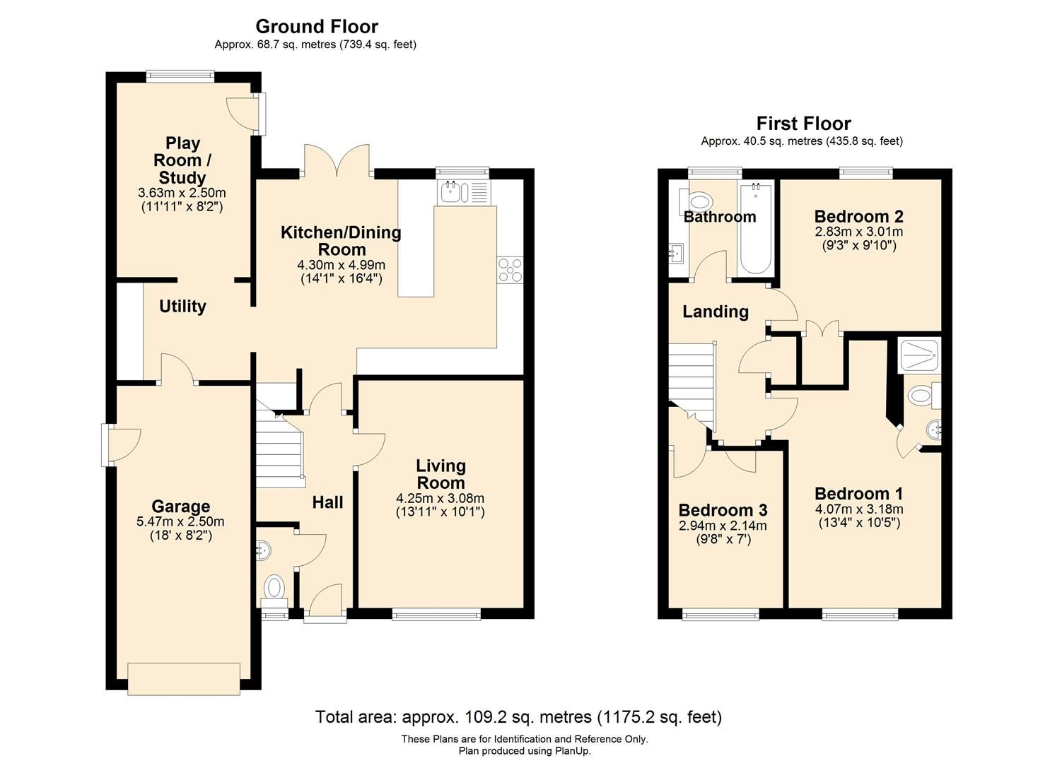 3 bed detached for sale in Belmont - Property Floorplan