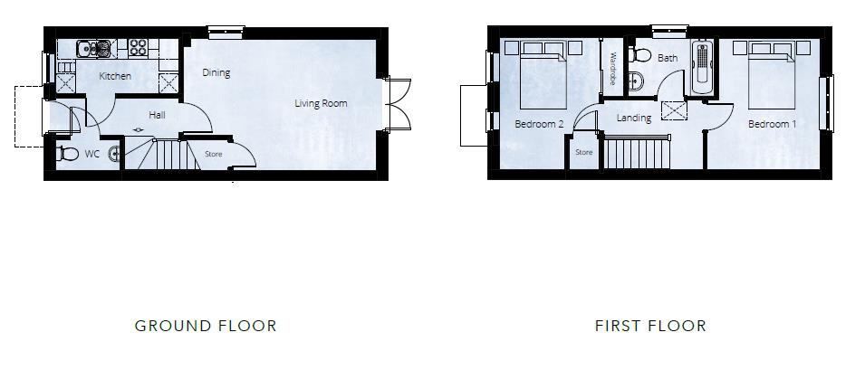 2 bed semi-detached for sale in Kingstone - Property Floorplan
