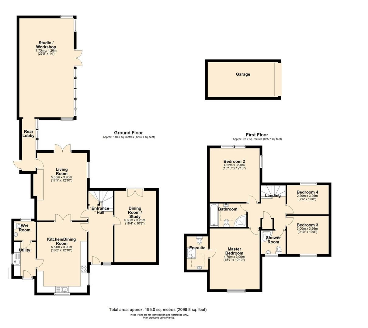 4 bed semi-detached to rent in Weobley - Property Floorplan