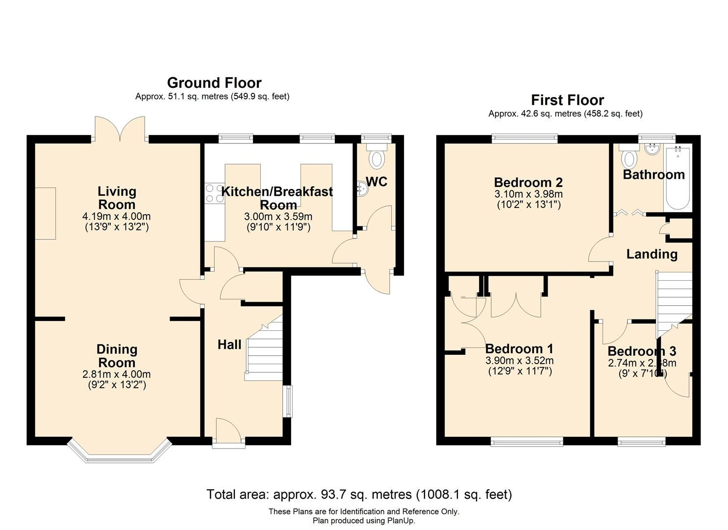 3 bed semi-detached for sale in Much Birch - Property Floorplan