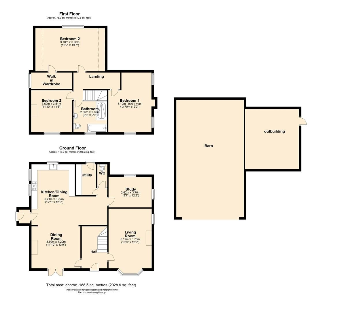 3 bed detached to rent in Preston-On-Wye - Property Floorplan