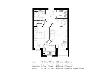 1 bed retirement property for sale in Hereford - Property Floorplan