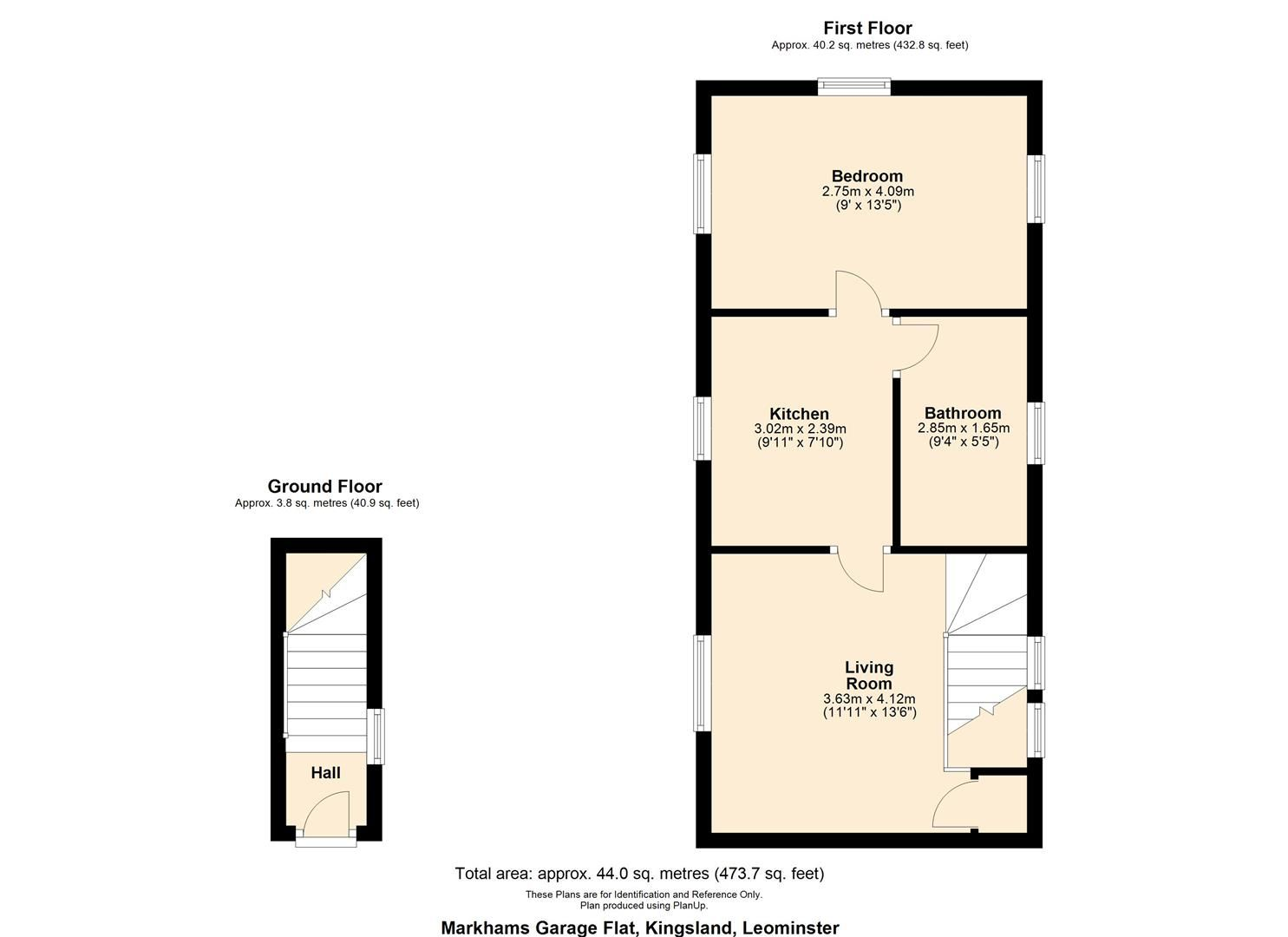 1 bed flat to rent in Kingsland - Property Floorplan