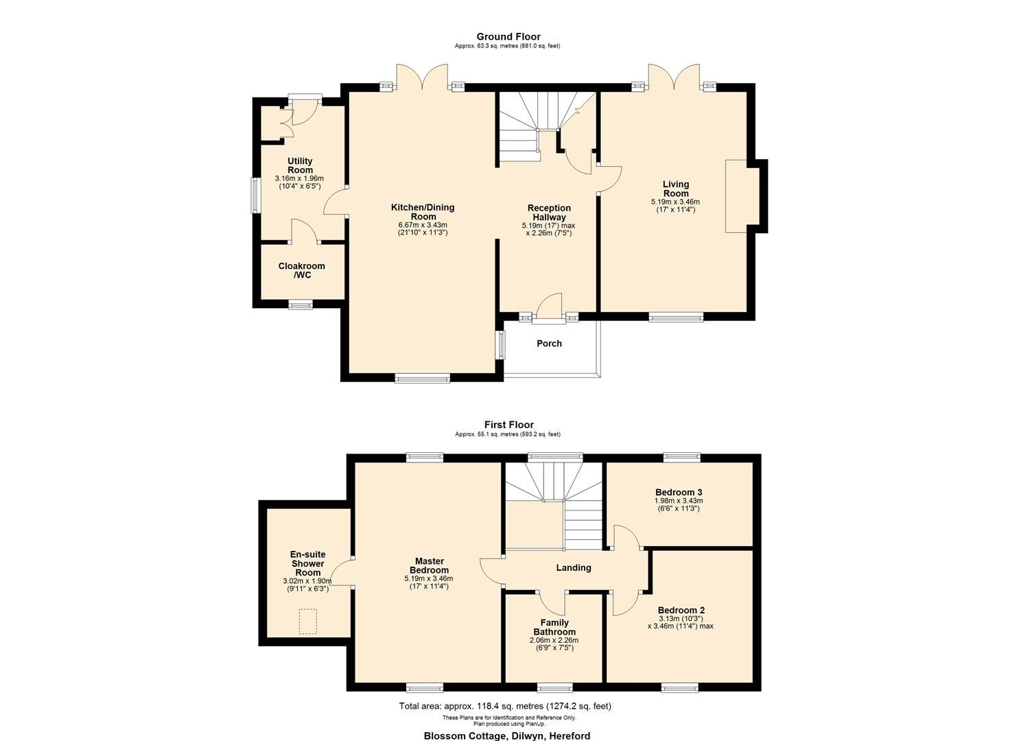 3 bed house for sale in Dilwyn - Property Floorplan