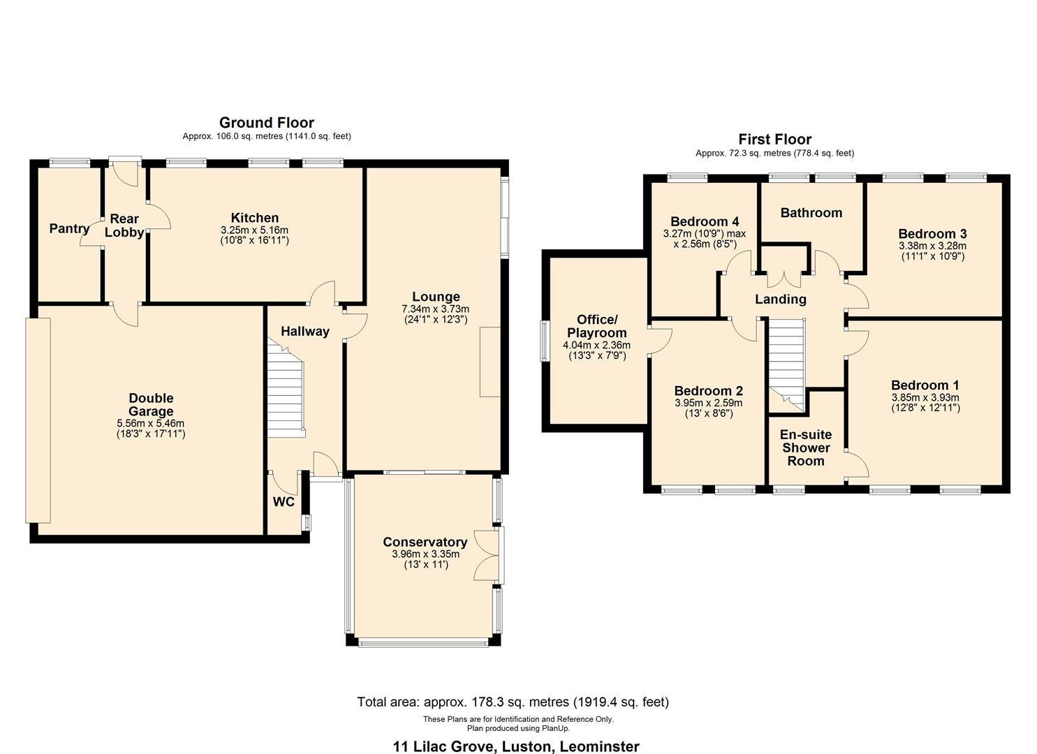 4 bed detached for sale in Luston - Property Floorplan