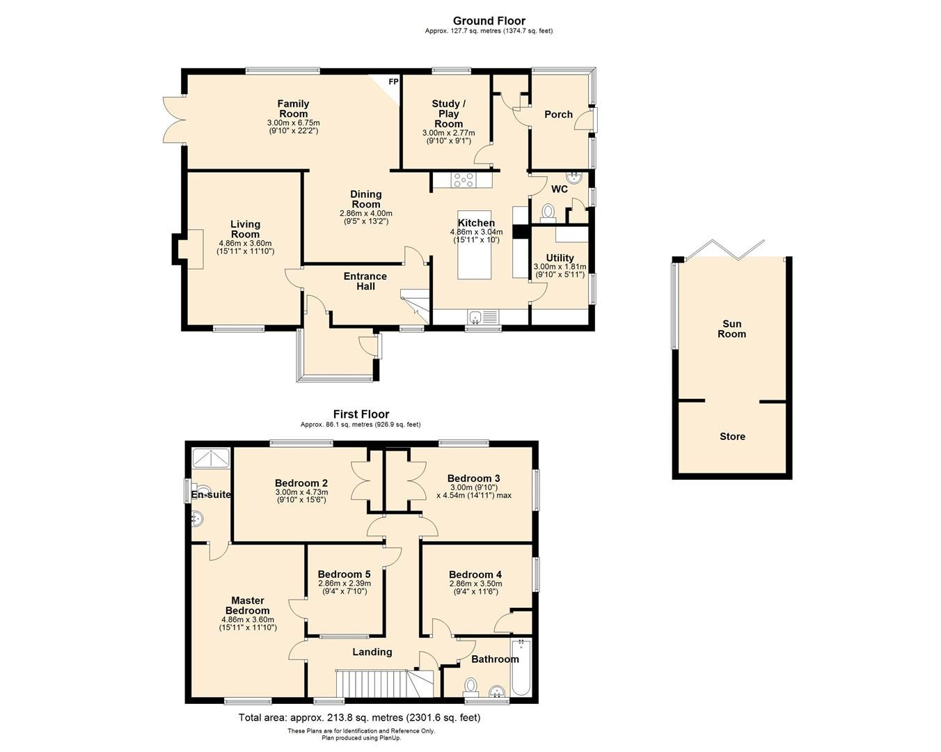 5 bed detached for sale in Sutton St. Nicholas - Property Floorplan