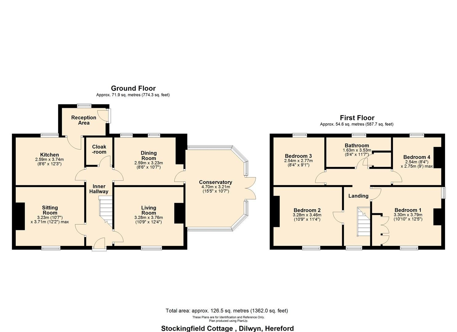 4 bed detached for sale in Dilwyn - Property Floorplan