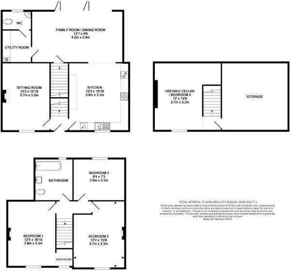 3 bed detached for sale - Property Floorplan