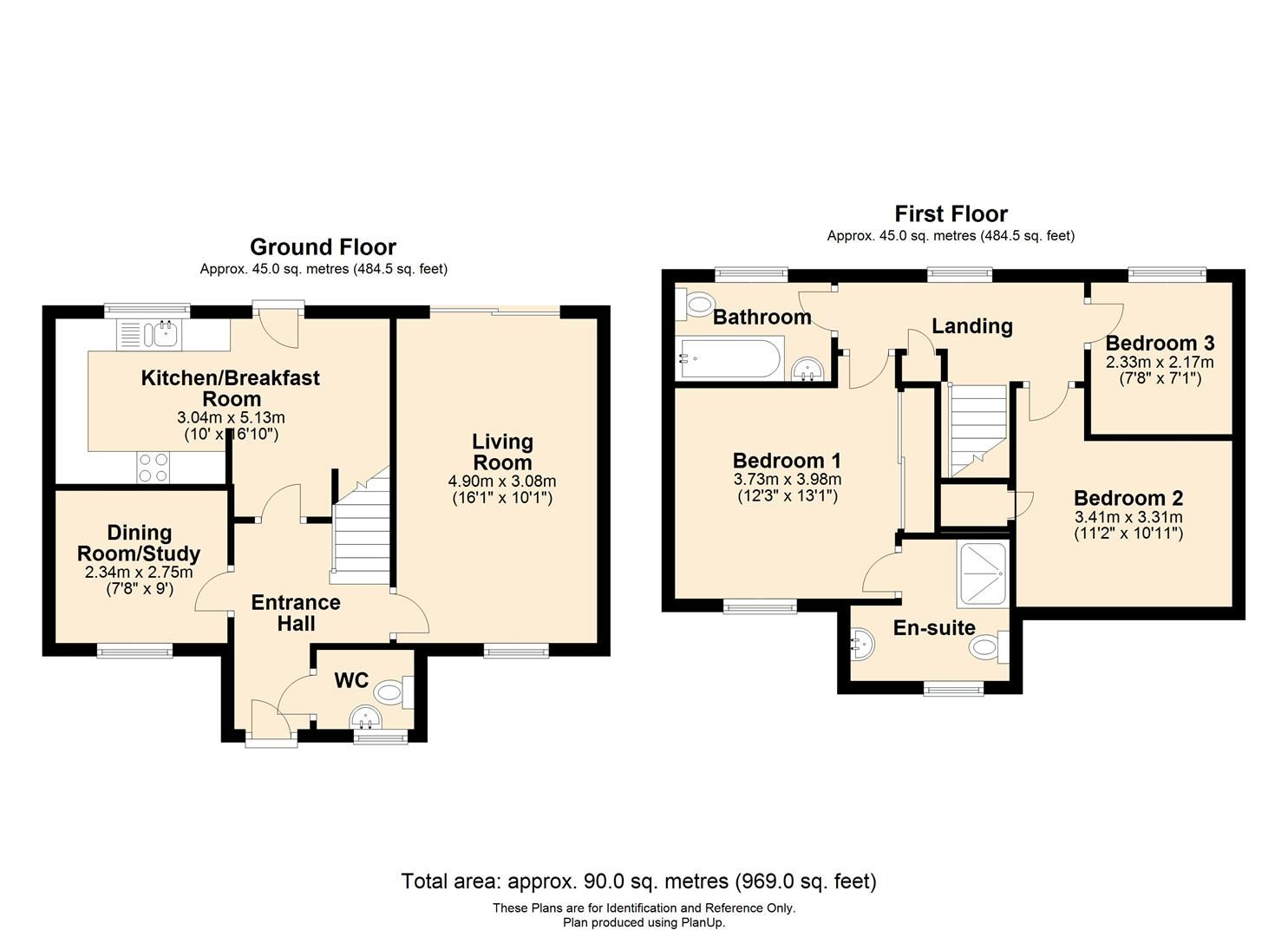 3 bed detached for sale in Hereford - Property Floorplan