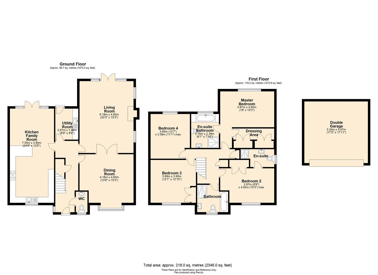 4 bed detached for sale in Wellington - Property Floorplan