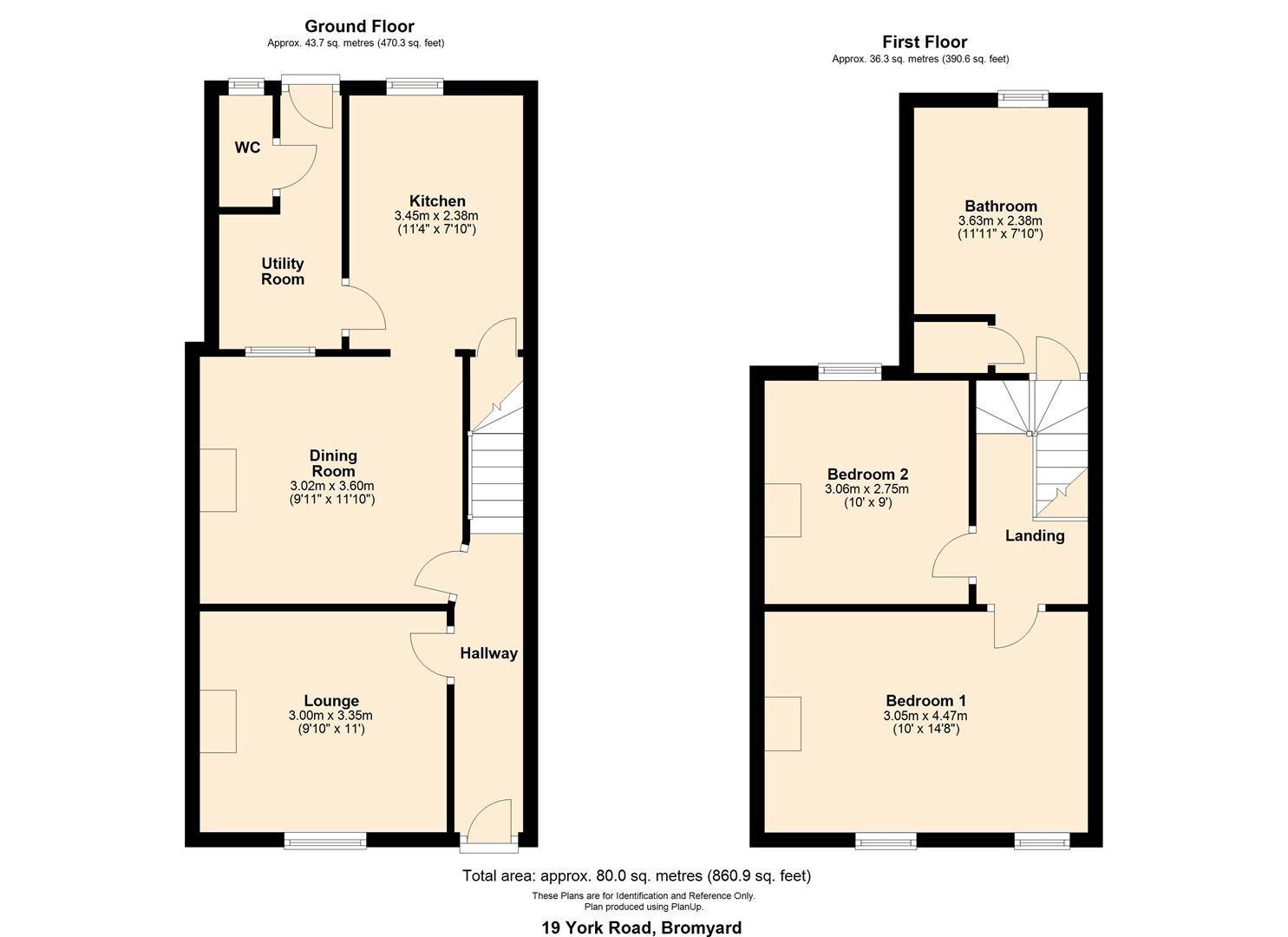 2 bed terraced for sale in Bromyard - Property Floorplan