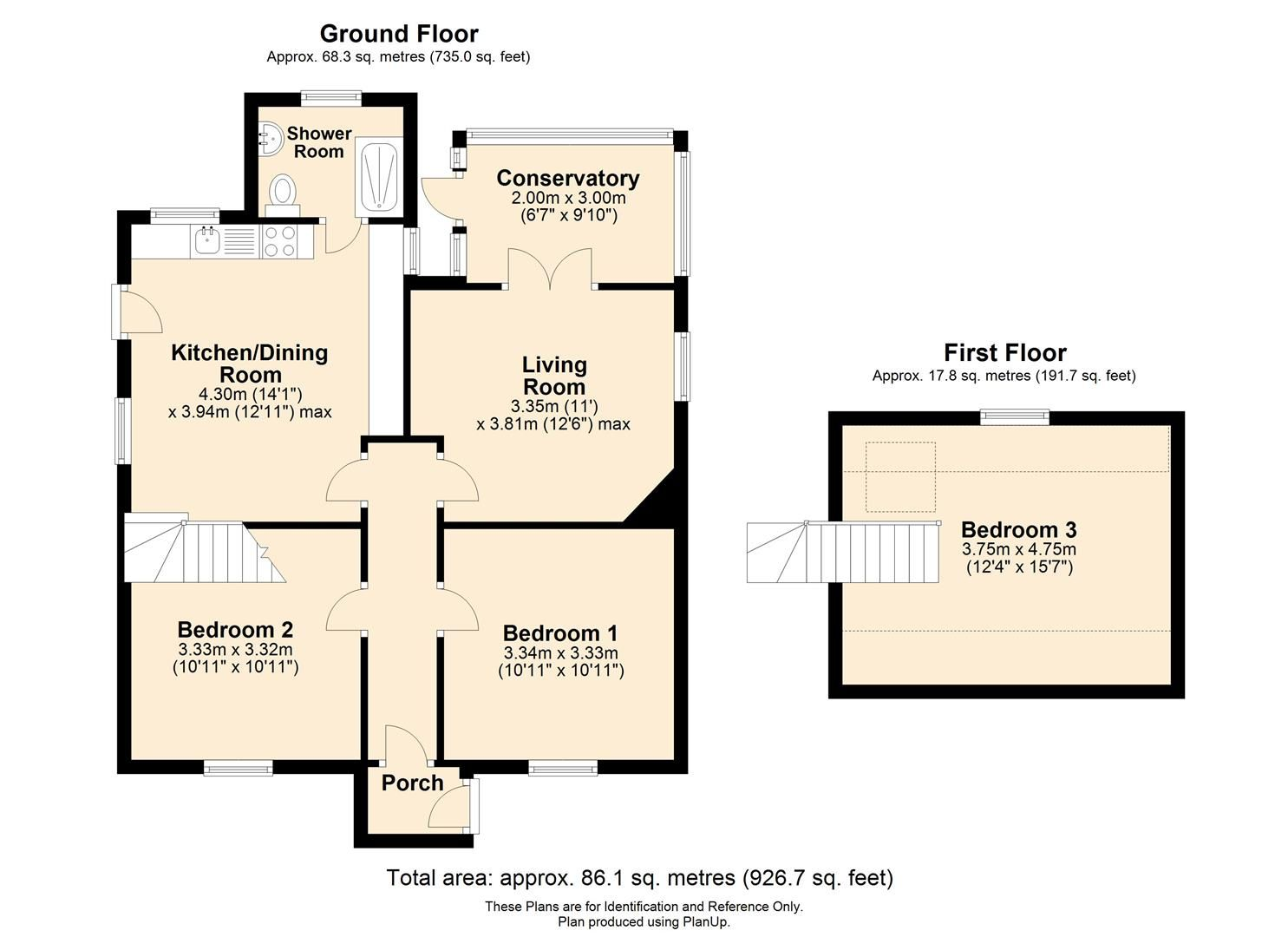 3 bed detached bungalow for sale in Hereford - Property Floorplan