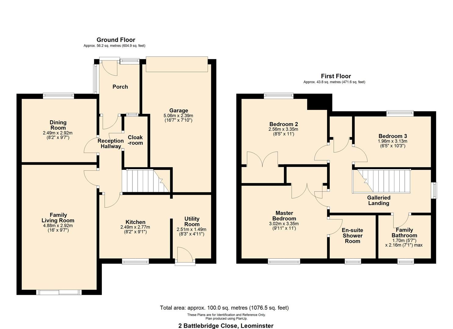 3 bed detached for sale in Leominster - Property Floorplan