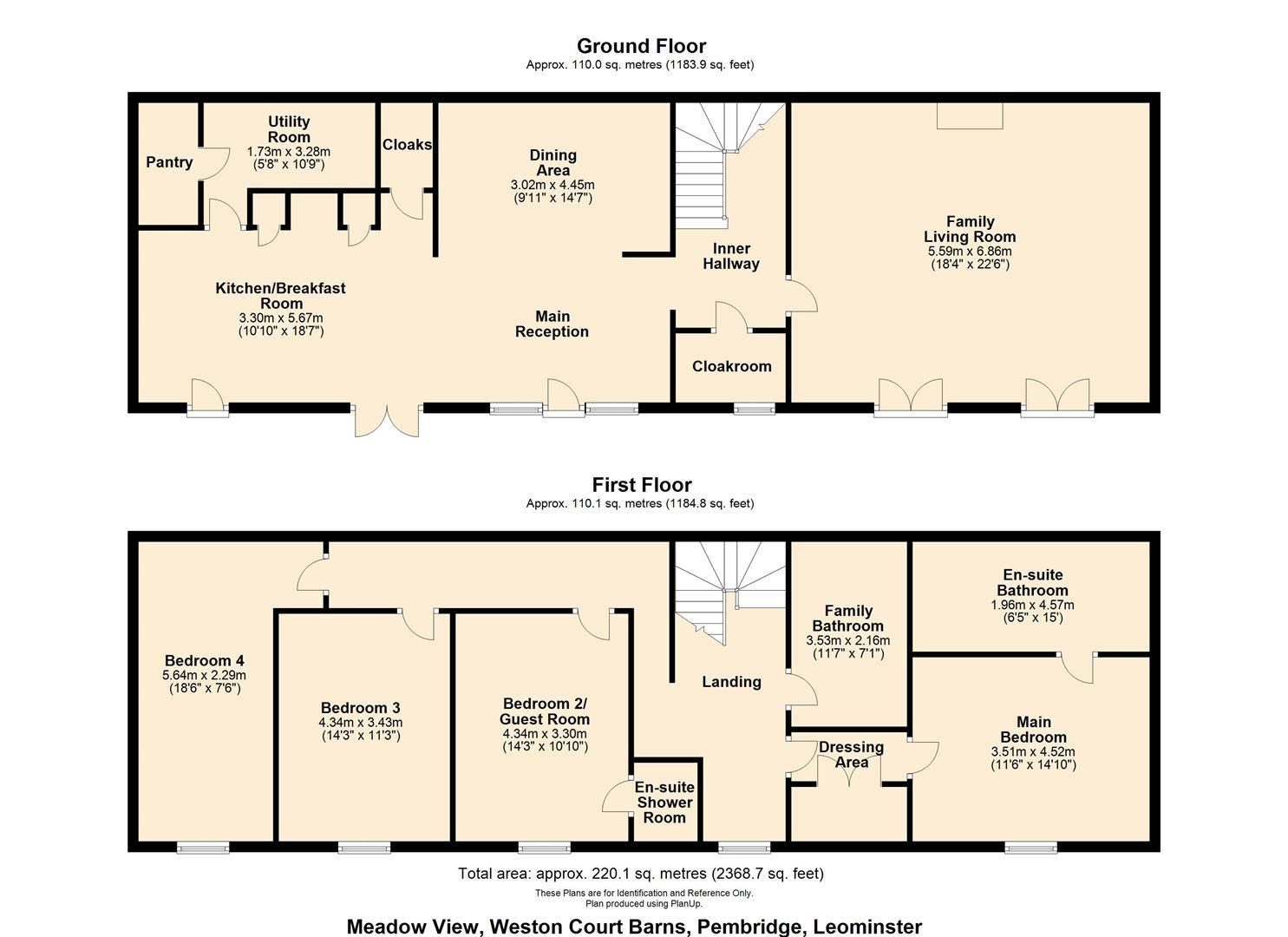 4 bed barn-conversion for sale in Pembridge - Property Floorplan
