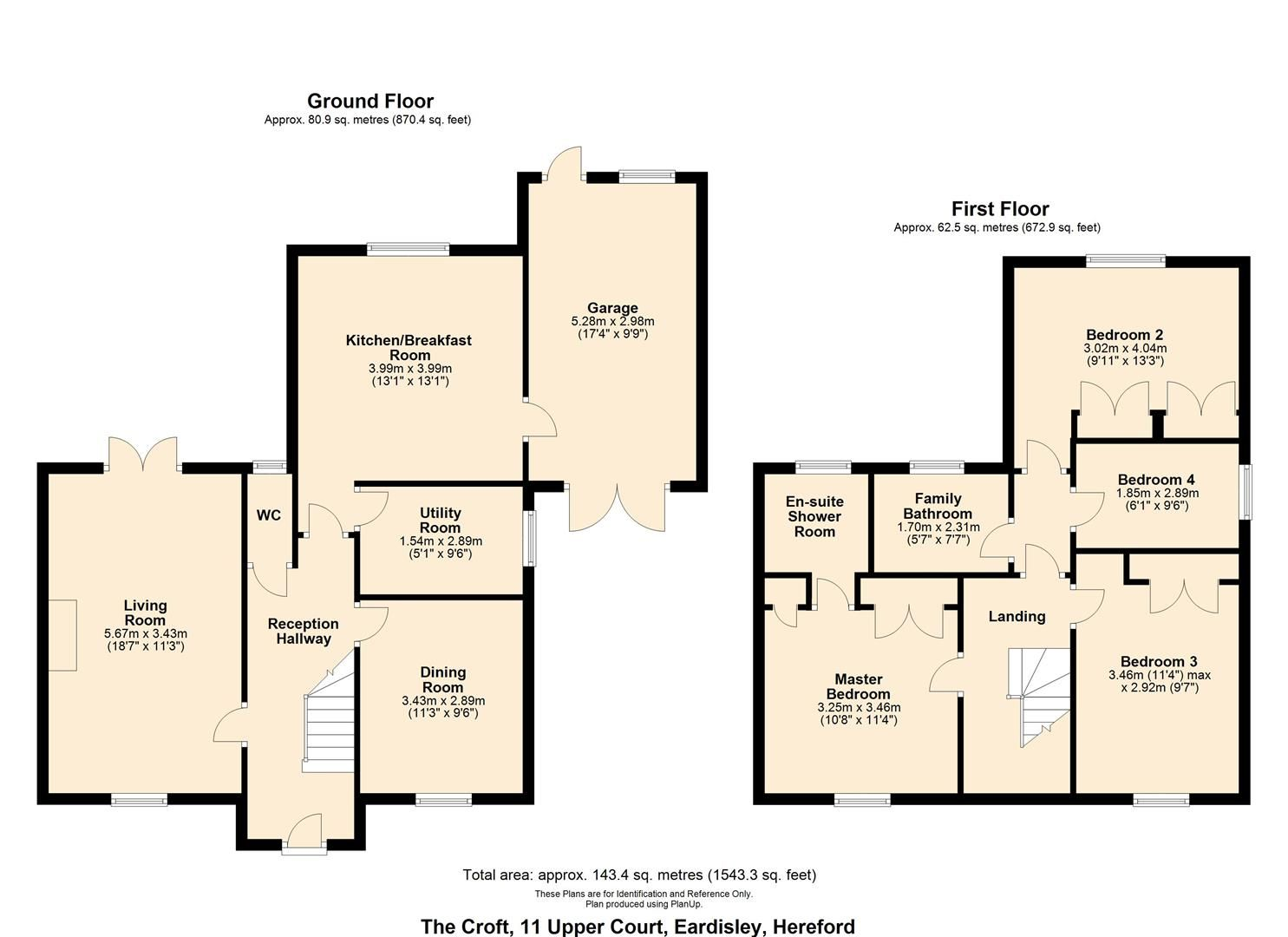 4 bed detached for sale in Eardisley - Property Floorplan
