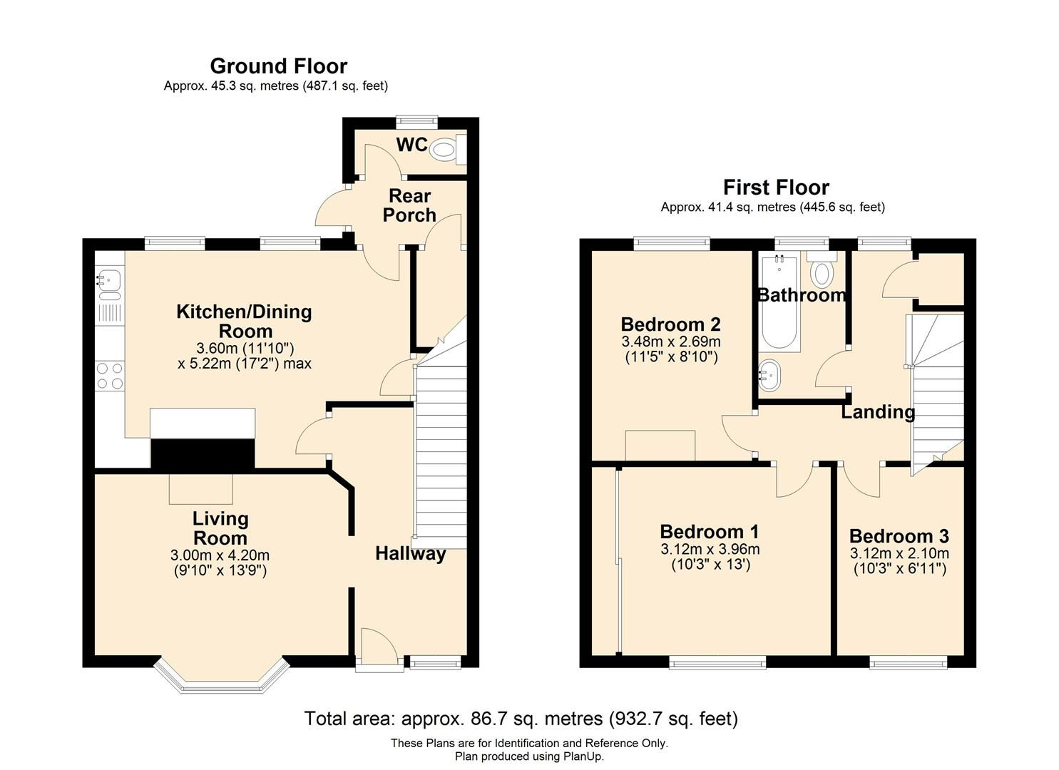 3 bed end-of-terrace for sale in Hereford - Property Floorplan