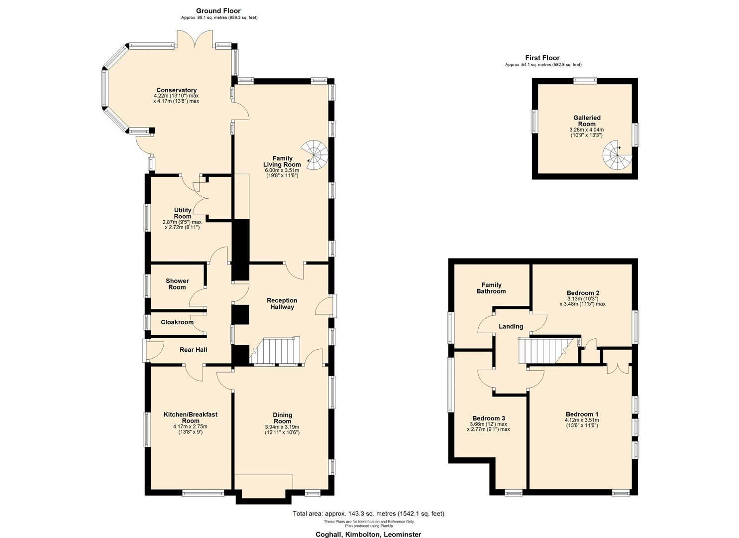 3 bed country house for sale in Kimbolton - Property Floorplan