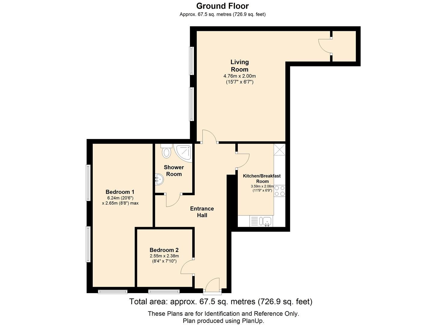 2 bed apartment to rent - Property Floorplan