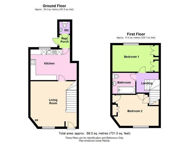 2 bed terraced to rent in Weobley - Property Floorplan