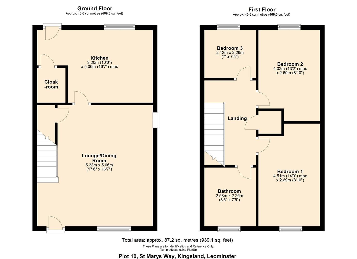 3 bed semi-detached for sale in Kingsland - Property Floorplan