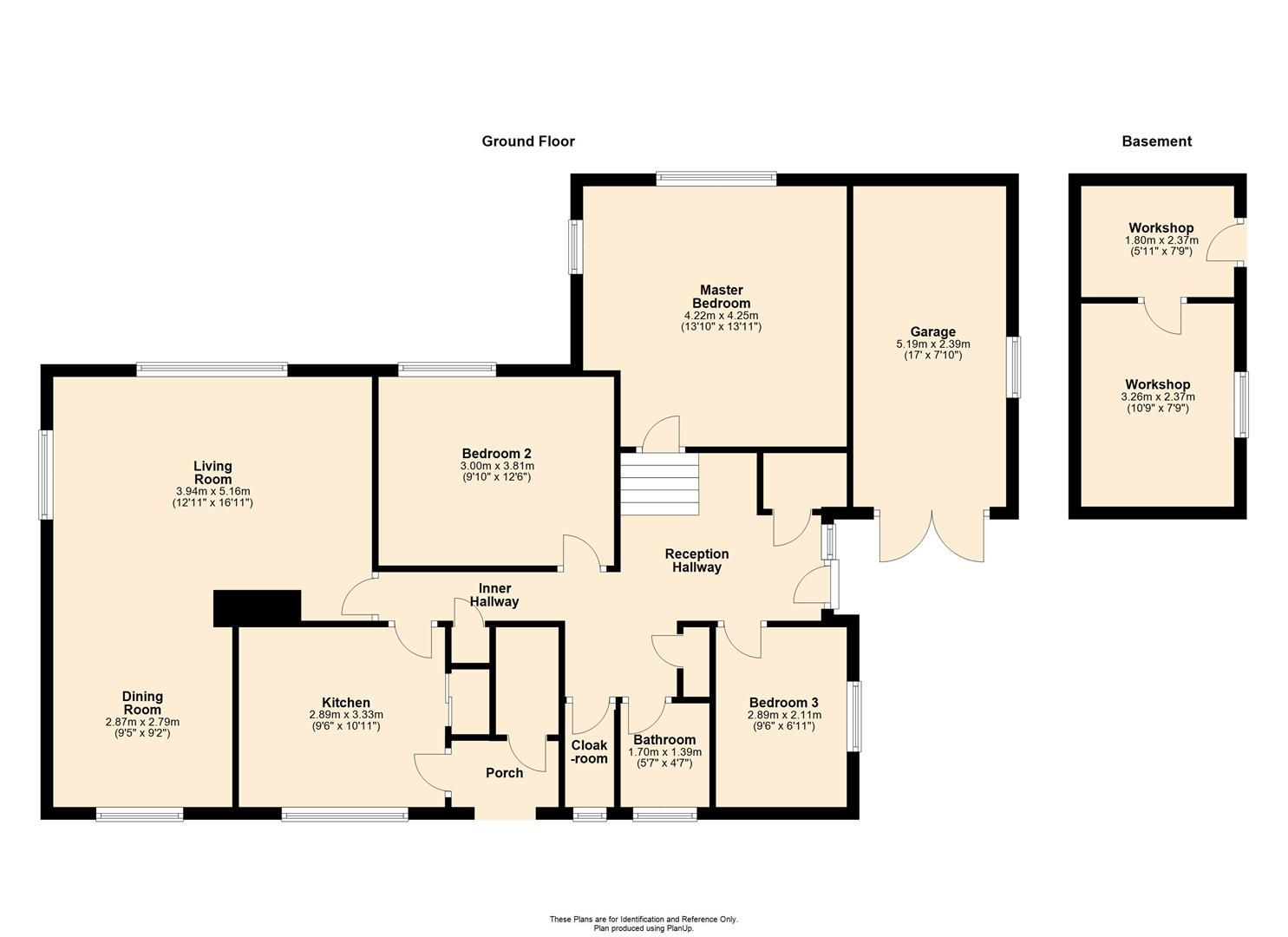 3 bed detached-bungalow for sale in Wigmore - Property Floorplan