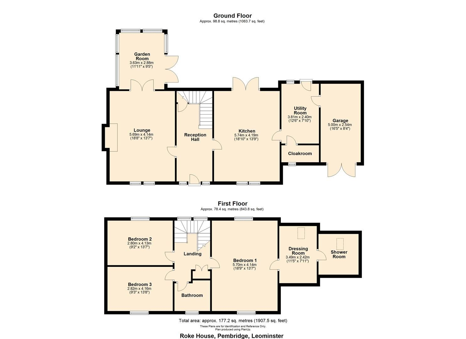 3 bed detached for sale in Pembridge - Property Floorplan