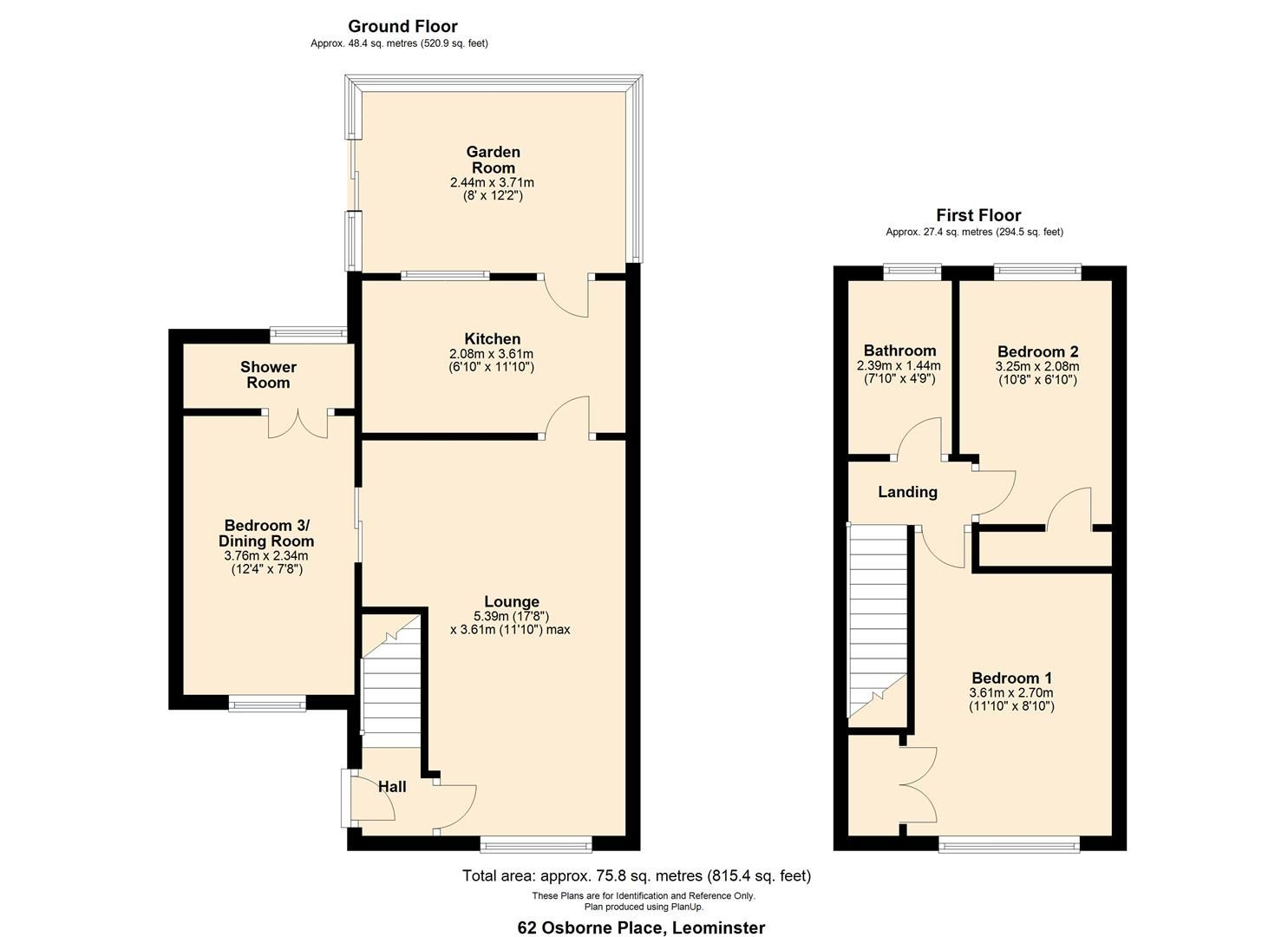 3 bed semi-detached to rent in Leominster - Property Floorplan