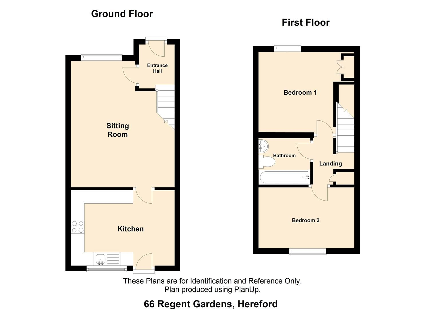 2 bed terraced to rent - Property Floorplan