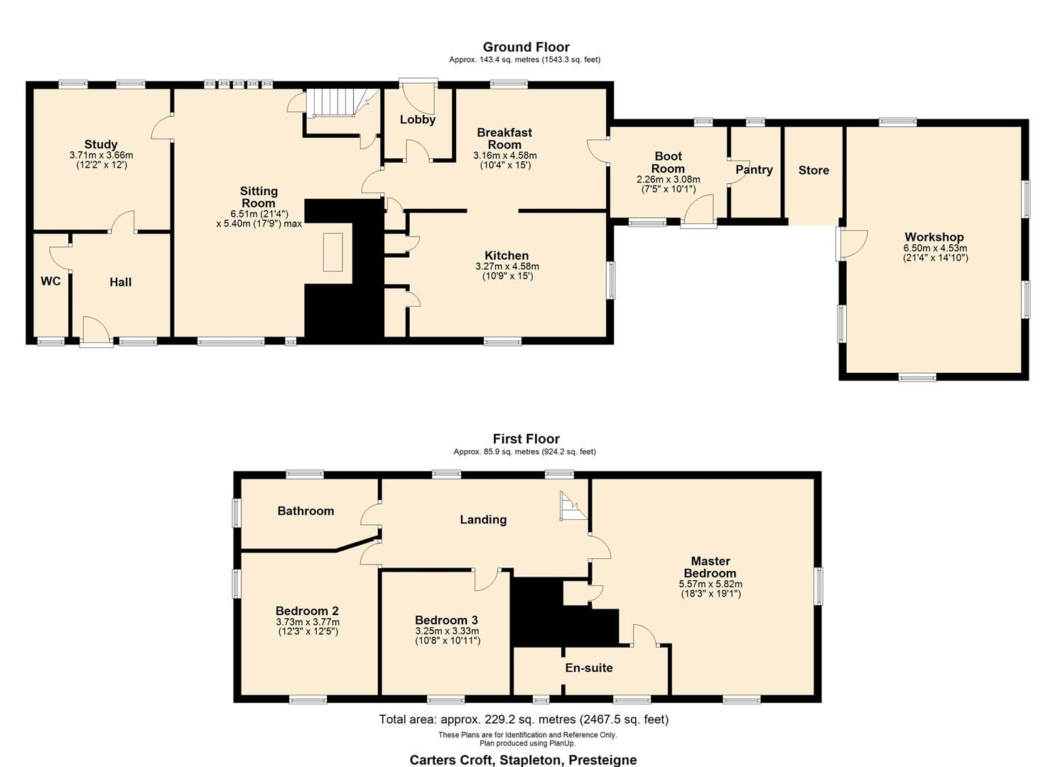 3 bed country house for sale in Stapleton - Property Floorplan