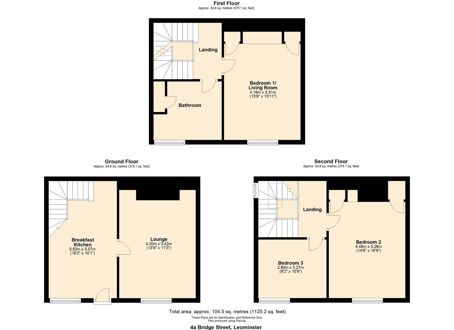 3 bed town-house for sale in Leominster - Property Floorplan