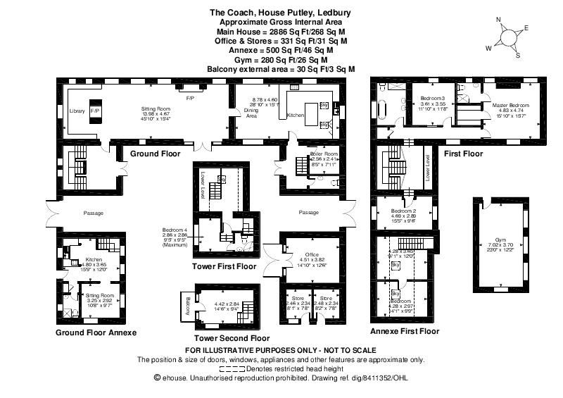 5 bed barn-conversion for sale in Putley - Property Floorplan