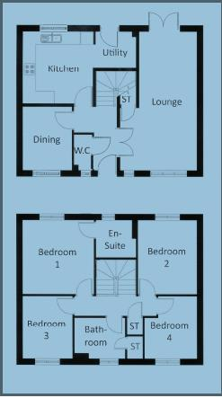 4 bed detached for sale in Bartestree - Property Floorplan