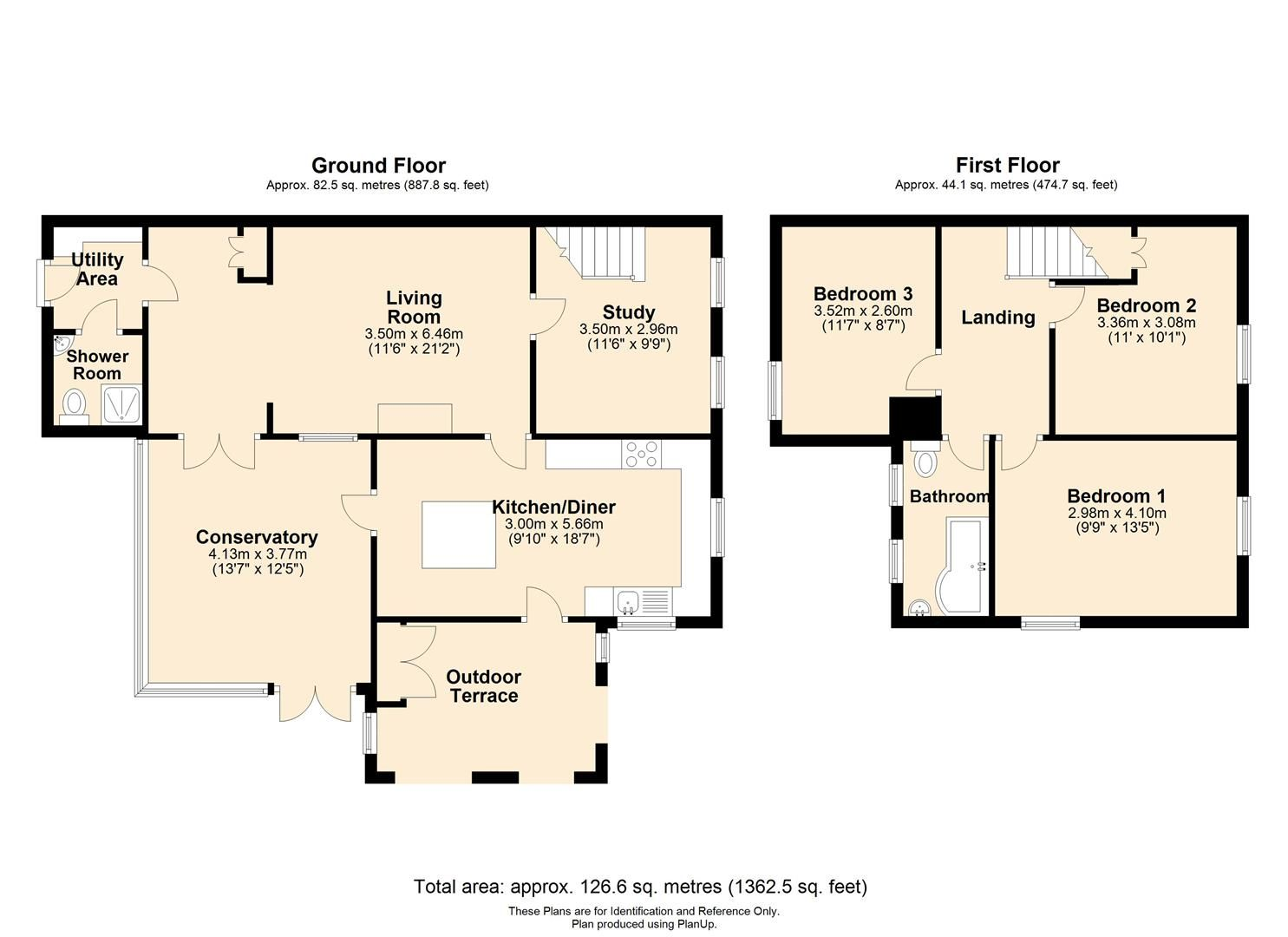 3 bed semi-detached for sale in Stretton Sugwas - Property Floorplan